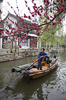 Excursion boat tour at Zhouzhuang, Shanghai suburb, China - OTHK