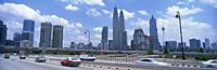 Kuala Lumpur skyline from the highway, Malaysia - OTHK