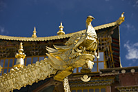 Decorations on Songzanlin Temple, Shangri-la, China - OTHK