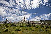 Tibetan stupa on the highland  Shangri-la, China - OTHK