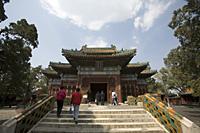 Tourists at Beihai Park, Beijing, China - OTHK