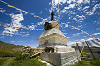 Tibetan stupa on the highland  Shangri-la, China - OTHK