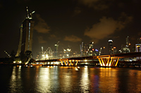 Night view of Integrated Resort construction site, Singapore - Nugene Chiang