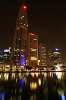 Night shot of Boat Quay, Singapore - Nugene Chiang