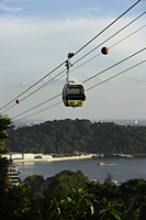 cable car with Sentosa in background, Singapore - Nugene Chiang