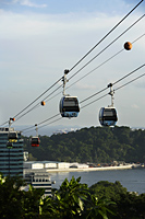 cable cars over water, Singapore - Nugene Chiang