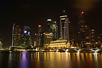 Night view of Fullerton Hotel and Shenton Way, Singapore - Nugene Chiang