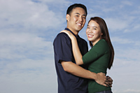 Young couple hugging and smiling - Yukmin