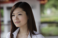 Head shot of Chinese woman outside - Yukmin