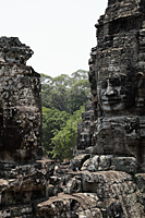 stone carving of Buddha's face, Angkor Wat Cambodia - Alex Mares-Manton