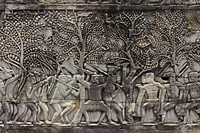 stone carvings on the wall of Angkor Wat, Camobia - Alex Mares-Manton