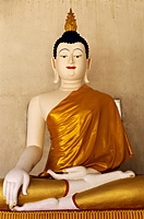 Thailand,Chiang Mai,Buddha Statue at Wat Chedi Luang - Travelasia