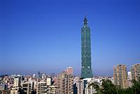 Taiwan,Taipei,City Skyline and Taipei 101 Skyscraper (1667 feet) - Travelasia