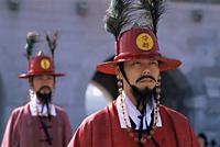 Korea,Seoul,Gyeongbokgung Palace,Portrait of Ceremonial Guard in Traditional Costume - Travelasia