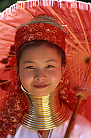 Thailand,Chiang Rai,Long Neck Karen Hilltribe,Long Neck Girl - Travelasia