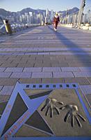 China,Hong Kong,Kowloon,Tsim Sha Tsui,Avenue of the Stars,Jackie Chan Handprints - Travelasia