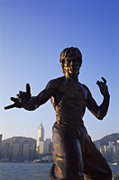 China,Hong Kong,Kowloon,Tsim Sha Tsui,Avenue of the Stars,Bruce Lee Statue - Travelasia