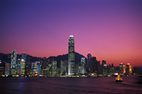 China,Hong Kong,City Skyline and Victoria Harbour at Night - Travelasia