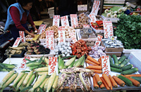China,Hong Kong,Fruit and Vegetable Market Display - Travelasia