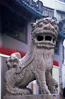 China,Hong Kong,Hollywood Road,Lion Statue in Man Mo Temple - Travelasia