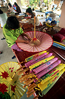 Thailand,Chiang Mai,Borsang Umbrella Village,Umbrella Making - Travelasia