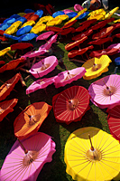 Thailand,Chiang Mai,Borsang Umbrella Village,Umbrellas - Travelasia