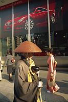 Japan,Honshu,Tokyo,Monk Walking on The Ginza - Travelasia
