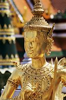 Thailand,Bangkok,Wat Phra Kaeo,Grand Palace,Kinnari Statue in Wat Phra Kaeo - Travelasia