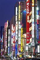 Japan,Tokyo,Shinjuku,Night Lights on Shinjuku Dori - Travelasia