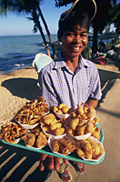 Thailand,Pattaya,Food Vendor on Pattaya Beach - Travelasia
