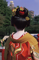 Japan,Tokyo,Geishas at Jidai Matsuri Festival held Annually in November at Sensoji Temple Asakusa - Travelasia