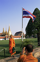 Thailand,Bangkok,Wat Phra Kaeo,Monks Taking Photos in Wat Phra Kaeo - Travelasia