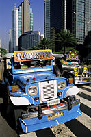 Philippines,Manila,Jeepneys in the Makati Financial District - Travelasia