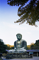 Japan,Tokyo,Kamakura,Daibutsu,The Great Buddha with Autumn Leaves - Travelasia