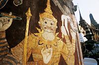 Thailand,Bangkok,Wat Phra Kaeo,Grand Palace,Ramayana Epic Painting - Travelasia