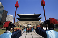 Korea,Seoul,Sungnyemun,South Gate,Ceremonial Changing of the Guard in Front of Sungnyemun Gate - Travelasia