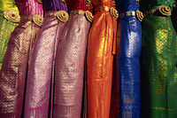 Thailand,Bangkok,Traditional Silk Dresses - Travelasia