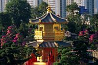 China,Hong Kong,Diamond Hill,Nan Lian Garden,Pavilion of Absolute Perfection on Lotus Pond - Travelasia