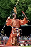 Japan,Tokyo,Meiji Jingu Shrine,Meiji Jingu Spring Grand Festival Celebration,Bugaku Dancer - Travelasia