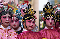 China,Hong Kong,Group of Girls Dressed in Chinese Opera Costume - Travelasia