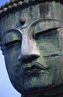 Japan,Tokyo,Kamakura,Daibutsu,Detail of The Great Buddha's Face - Travelasia