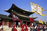 Korea,Seoul,Gyeongbokgung Palace,Changing of the Guard Ceremony - Travelasia