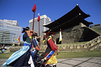 Korea,Seoul,Sungnyemun,South Gate,Traditional Guarding Ceremony in Front of Sungnyemun Gate - Travelasia