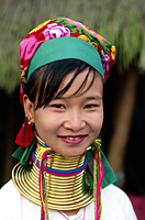 Thailand,Golden Triangle,Chiang Rai,Long Neck Karen Hilltribe,Long Neck Woman - Travelasia