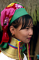 Thailand,Golden Triangle,Chiang Rai,Long Neck Karen Hilltribe,Long Neck Woman - Travelasia