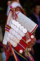 Thailand,Chiang Rai,Akha Hilltribe Woman Wearing Traditional Silver Headpiece - Travelasia