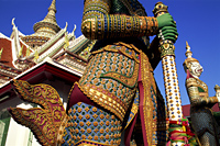 Thailand,Bangkok,Wat Arun,Temple of Dawn,Temple Guardian Statue - Travelasia