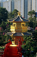 China,Hong Kong,Diamond Hill,Nan Lian Garden,Pavilion of Absolute Perfection on Lotus Pond - Travelasia