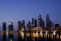 Singapore,City Skyline of Marina Bay at night - Travelasia