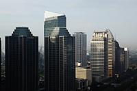 Skyscrapers along Jalan Jend Sudirman, Jakarta - Martin Westlake